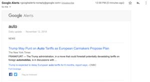Creating a Google Alert