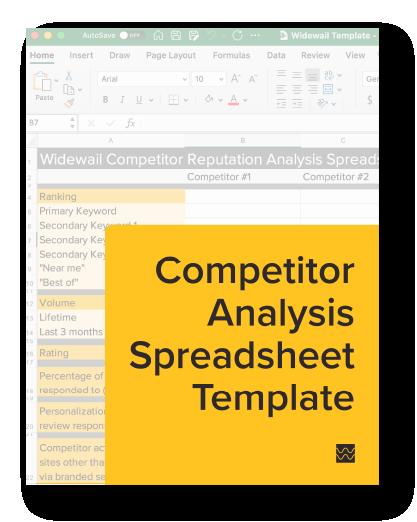 Competitor Reputation Analysis Spreadsheet Template