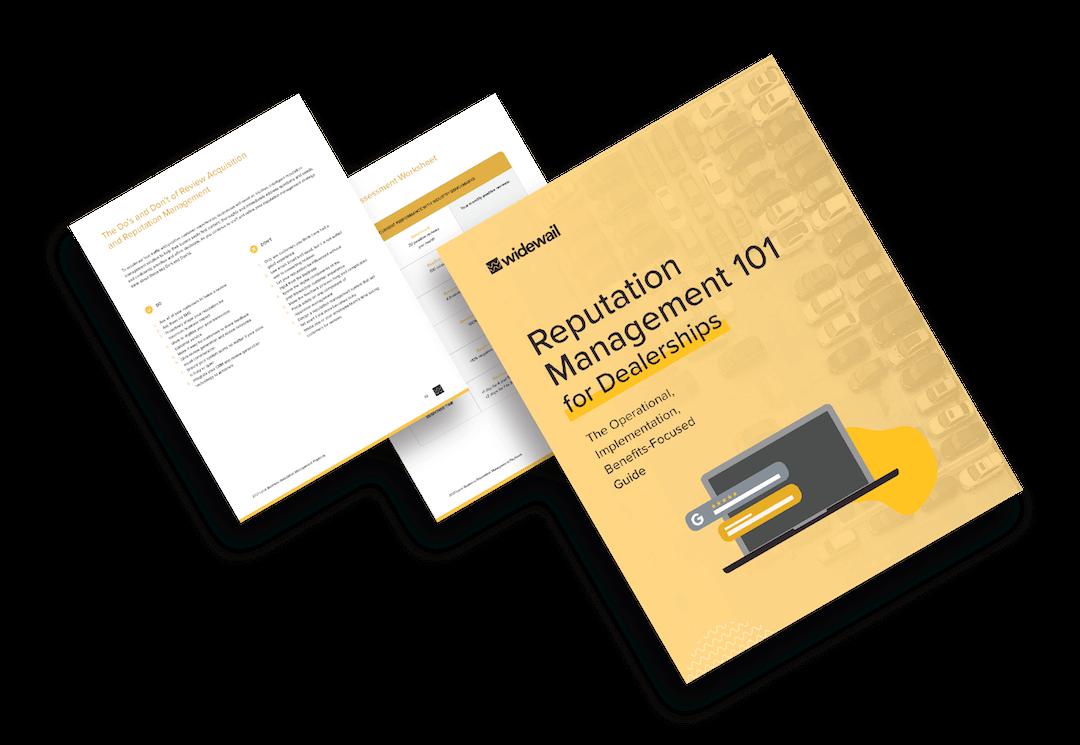Automotive Reputation Management Playbook Cover Graphic