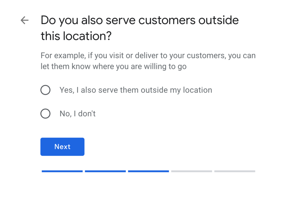 Add your service areas