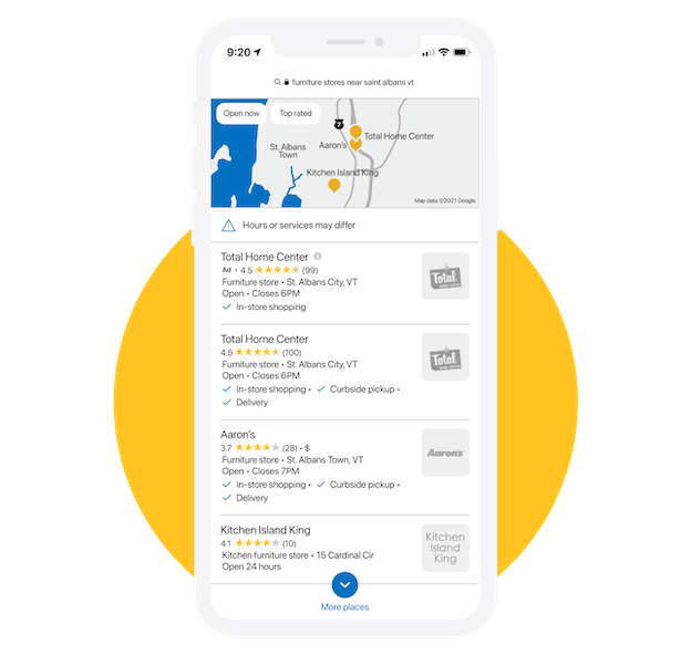 Rank in local search with reputation management