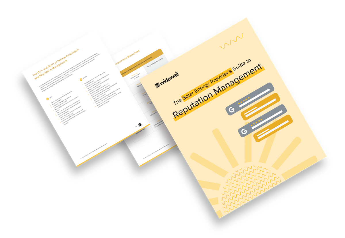 Solar Company Reputation Management Playbook Cover