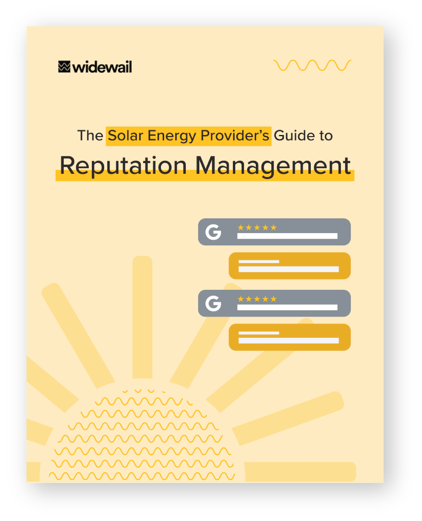 The Solar Energy Provider's Guide to Reputation Management