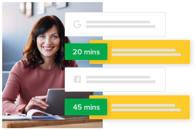 100% response rate to all of your reviews in 24 hours, often within minutes